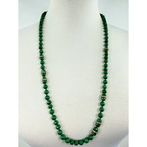 J. Crew jade beads with crystal accent necklace